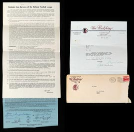 1952 Sammy Baugh's Final NFL Player Contract with Envelope & G.P. Marshall Letter