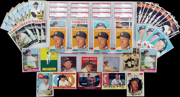 (53) 1953-1969 Mickey Mantle Baseball Cards