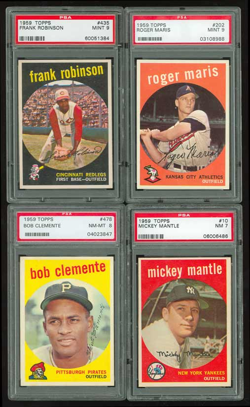 1959 Topps Baseball Set All PSA #16 on Registry - Average 7.32