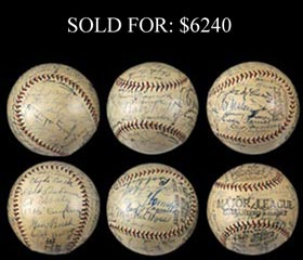 1930-1931 Multi-Signed Baseball With Ruth, Gehrig, Hornsby and Many HOFers - Full JSA and PSA/DNA - Spectacular!
