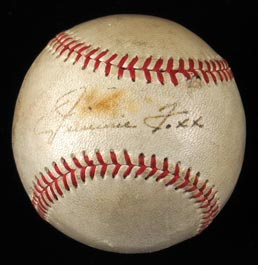 Jimmie Foxx Single-Signed Baseball with Full JSA