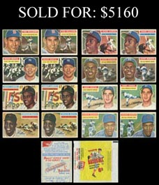 1956 Topps Baseball Master Set of (540) Total Cards with Base Set, Color Backs/Team Variations, Checklists & Wrappers