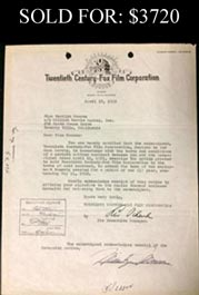 Marilyn Monroe Signed 1952 20th Century Fox Contract - Full JSA