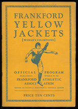 Incredible Collection of 1920s and 1930s Frankford Yellow Jacket FB Programs