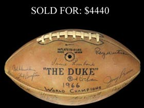 Super Bowl I Champion Green Bay Packers Team-Signed Football With Lombardi, Starr, Nitschke and Full JSA - Gorgeous!