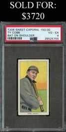 1909-11 T206 White Borders Ty Cobb (Bat On Shoulder) - PSA VG-EX 4