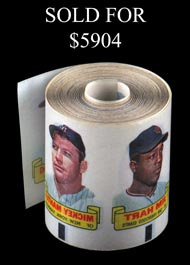 1966 Topps Baseball Rub-Offs High Grade Roll (450+) with 23 Mantle Examples