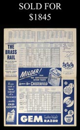 April 17, 1951 Mickey Mantle Major League Debut Yankee Stadium Program/Scorecard - Immaculate!