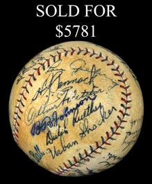 1927 World Champion New York Yankees Team-Signed Baseball With Gehrig, Shocker, Lazzeri and Full JSA - Gorgeous!