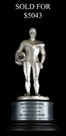 Barry Sanders 1997 Mackey Award Trophy