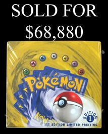 1999 Pokemon 1st Edition Limited Printing (English) Base Set Unopened Booster Box – Pristine Condition!
