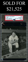 c. 1951 Mickey Mantle Rookie Contact Proof Original Photo by Jacobellis - Used for 1952 Bowman Card (PSA/DNA TYPE I)