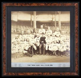Landmark 1888 New York Giants Joseph Hall IMPERIAL Cabinet Photo