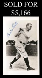 Babe Ruth Signed Vintage Black-and-White Photograph With Full JSA - Spectacular!
