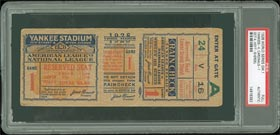 1928 Baseball World Series Full Ticket PSA