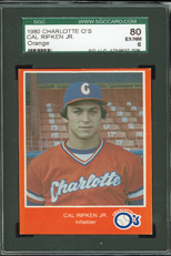 1980 Charlotte Orioles Cal Ripken Jr - Orange