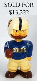 1960-1961 Baltimore Colts 15-Inch Jumbo Bobblehead Promotional Doll - Stellar Condition!