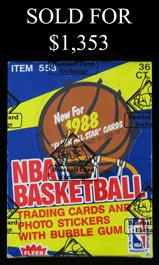 1988-89 Fleer Basketball Unopened Wax Box - BBCE Wrapped