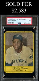 1954 Stahl-Meyer Franks Willie Mays - PSA Poor 1