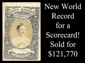 Ultra-Rare 1871 Mort Rogers Scorecard (Scored) Featuring Albert Spalding Cover Photo