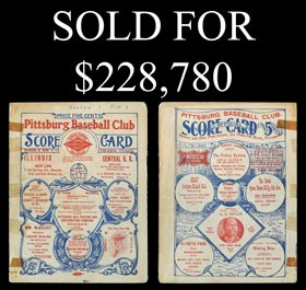 Newly Discovered, Ultra-Rare 1903 World Series Game 7 Program at Pittsburgh (Scored) - One of Only Three Examples Known with No Other Game 7 in Existence!