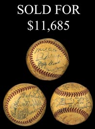1934 HOFers and Stars Signed Ball (24 Signatures) Including Ruth, Gehrig Foxx and Ott