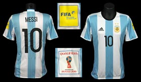 Lionel Messi November 10, 2016 World Cup Qualifier Match-Worn Argentina National Team Jersey With LOA