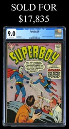 10/58 DC Superboy #68 with 1st Appearance of Bizarro - CGC 9.0 Highest Graded