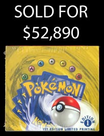 Incredible 1999 Pokémon 1st Edition Limited Printing (English) Base Set Unopened Booster Box!