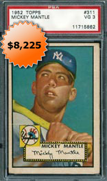1952 Topps #311 Mickey Mantle Rookie Baseball Card PSA VG 3