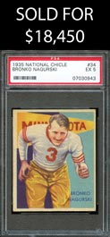 1935 National Chicle Football #34 Bronko Nagurski - PSA EX 5