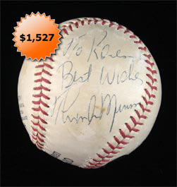 Thurman Munson Singe-Signed Autographed Baseball With Full PSA/DNA Letter of Authenticity