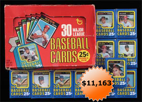 1971 Topps Baseball Fourth Series Unopened Cello Packs with Display Box Lot of (11)