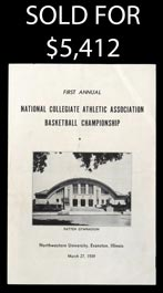1939 First-Ever NCAA Basketball Championship Program