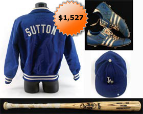 Don Sutton Game-Used Los Angeles Dodgers Lot With Jacket, Cap, Cleats and Bat