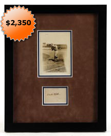 Babe Ruth Autographed Signed Display With 1922 News Service Photograph - PSA/DNA LOA