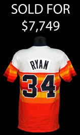 Nolan Ryan Signed Game-Worn 1982 Houston Astros Home Jersey