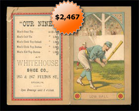 1883 Brooklyn Polka Dots Baseball Scorecard - Possibly The Earliest Known Dodgers Collectible Item