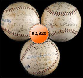 1923 Washington Senators and Chicago White Sox Multi-Signed Autographed Baseball With Walter Johnson, Eddie Collins and more