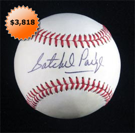 Satchel Paige Single-Signed Autographed Baseball Beautiful