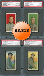 1909-11 T206 White Border Baseball Cards of Ty Cobb All (4) Pose Variations PSA Graded