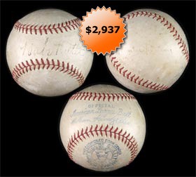 Babe Ruth and Walter Johnson Signed Autographed Baseball