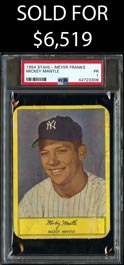 1954 Stahl-Meyer Franks Mickey Mantle - PSA Poor 1