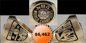1978 Washington Bullets NBA Basketball Championship Ring