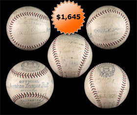 1927 Philadelphia Athletics Team Signed Autographed Baseball With Ty Cobb, Jimmy Foxx, Connie Mack, Eddie Collins and more