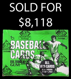 1975 Topps Baseball Unopened Cello Box of (24) Packs with (5) Hall of Famers Showing – BBCE Wrapped