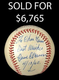 Paul Waner Single-Signed Baseball - PSA/DNA 8