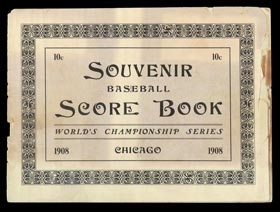 1908 World Series Program from Game 3 at West Side Grounds - Only Game 3 Known!