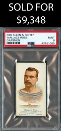 1888 N28 Allen & Ginter Wallace Ross (Oarsmen) PSA Mint 9 - One of One with None Better