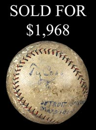 Ty Cobb Signed and Dated May 3, 1924 Baseball - Full JSA